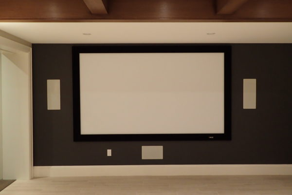 mounted projection screen