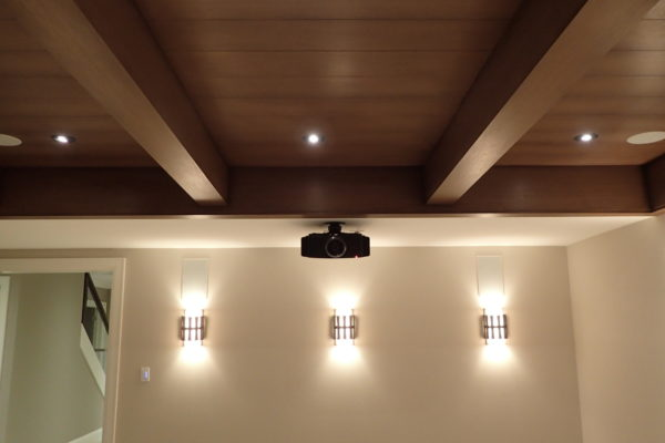 mounted projector in home theatre system