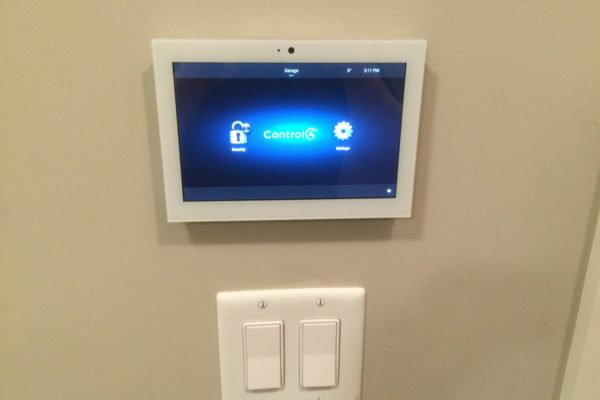 control4 home automation control panel