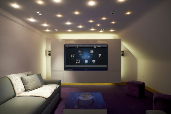 mounted tv with control4