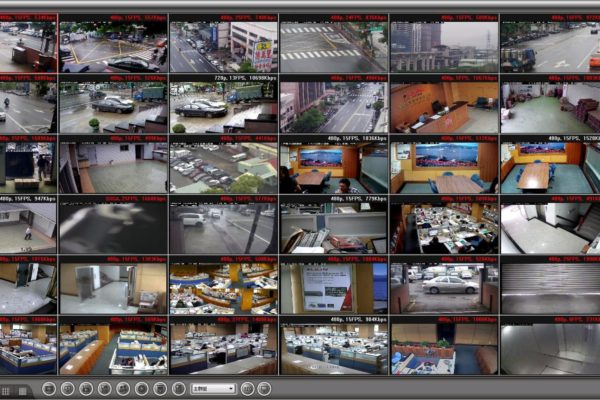 commercial security system display